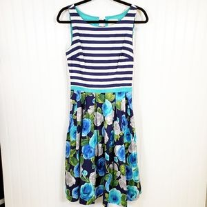 Modcloth Stripe and Floral Dress